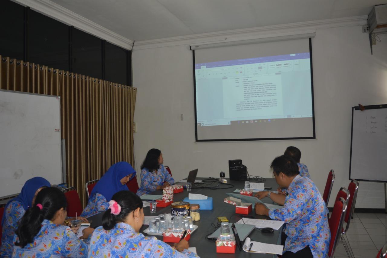 Rapat Teknis Persiapan Uji Kompetensi Administrasi Ketatalaksanaan